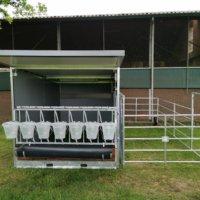 calf hutch with free range