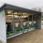Calf hutch for 5 calves